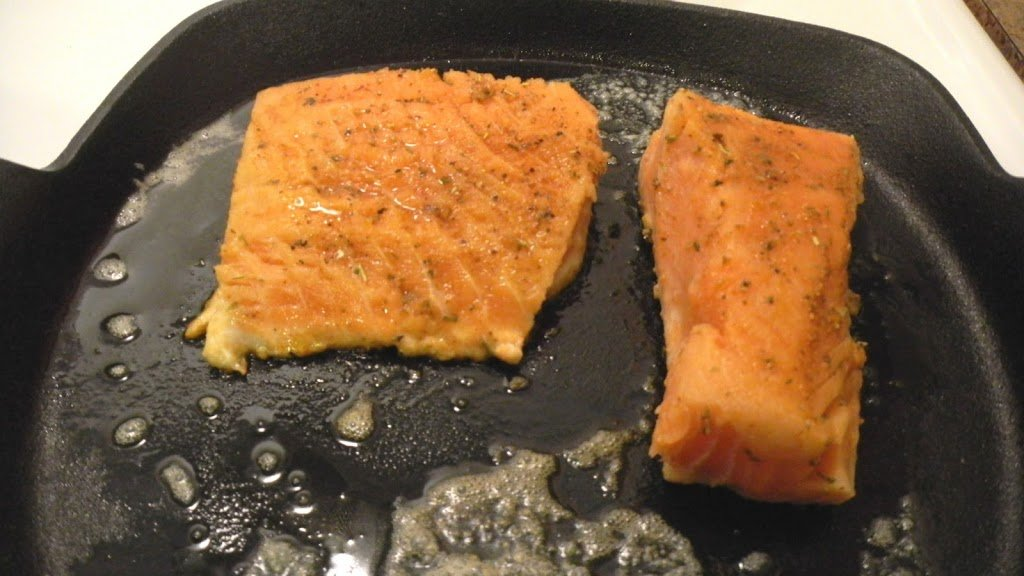 Blackened salmon with pineapple salsa a ducks oven i felt like mine still needed a few minutes to cook at this point so i put the skillet in the oven for a few minutes at 425 degrees cook until flaky ccuart Image collections