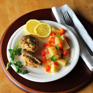 Lemon Crock Pot Chicken from A Duck's Oven. Simple crock pot chicken flavored with lemon, herbs, and garlic.