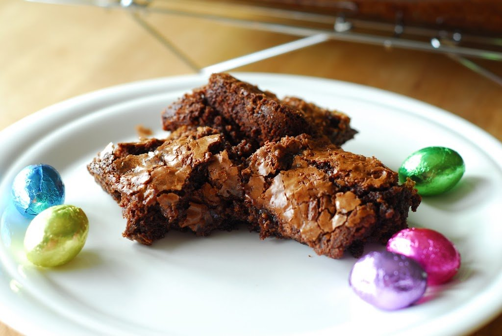 Leftover Easter Candy Brownies
