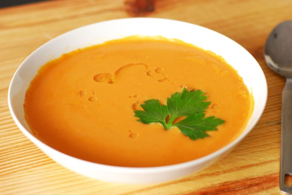 Spicy Sweet Potato Soup - A Duck's Oven