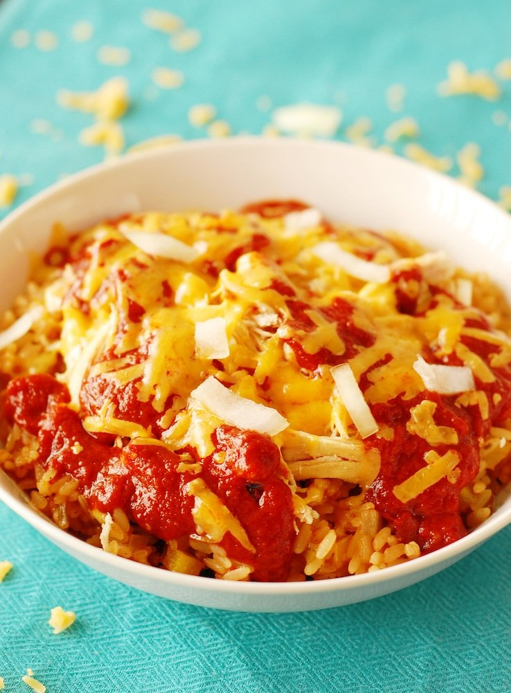 Slow Cooked Chicken Enchilada Chili Over Rice Recipes — Dishmaps