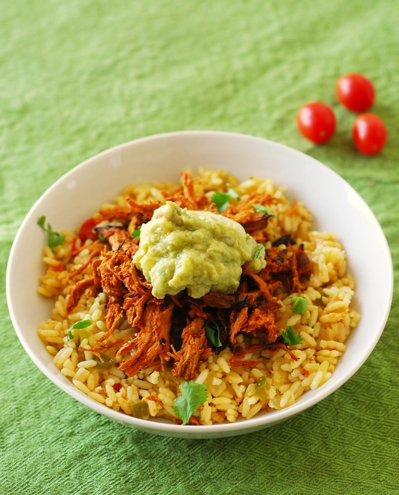 Crispy Carnitas with Spicy Rice