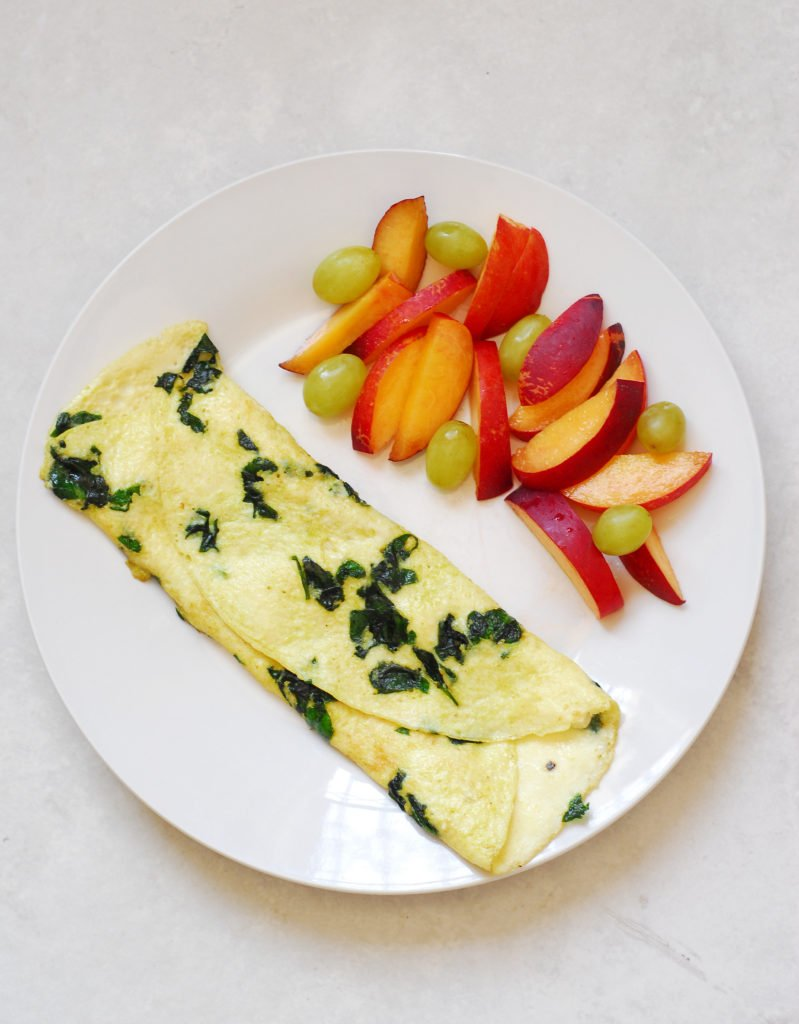 Spinach and Feta Omelette - A Duck's Oven