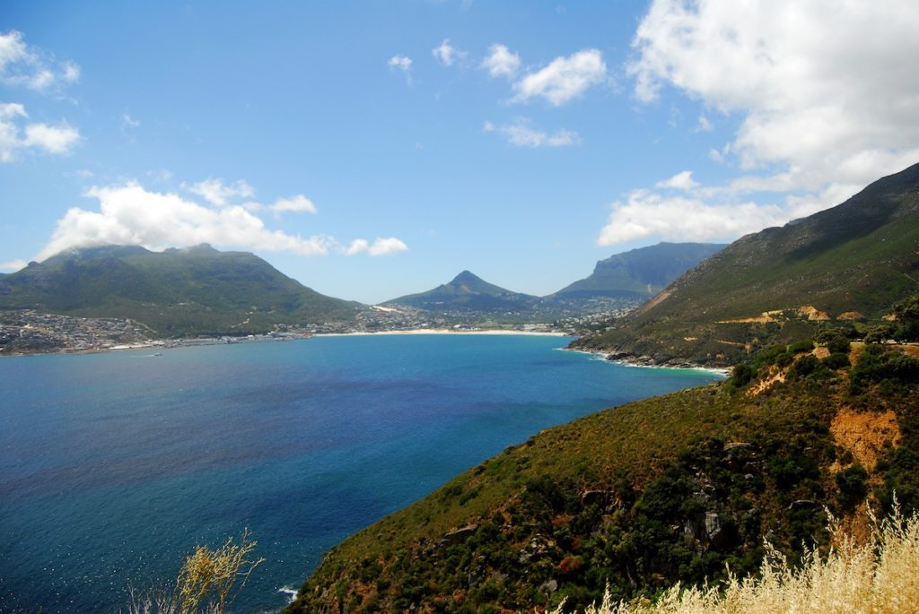 Chapman's Peak Drive on A Duck's Oven. The gorgeous stretch of road on the coast between Hout Bay and Noordhoek just outside Cape Town, South Africa.