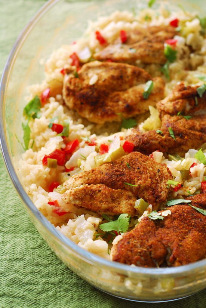 One Dish Indian-Spiced Chicken and Coconut Risotto