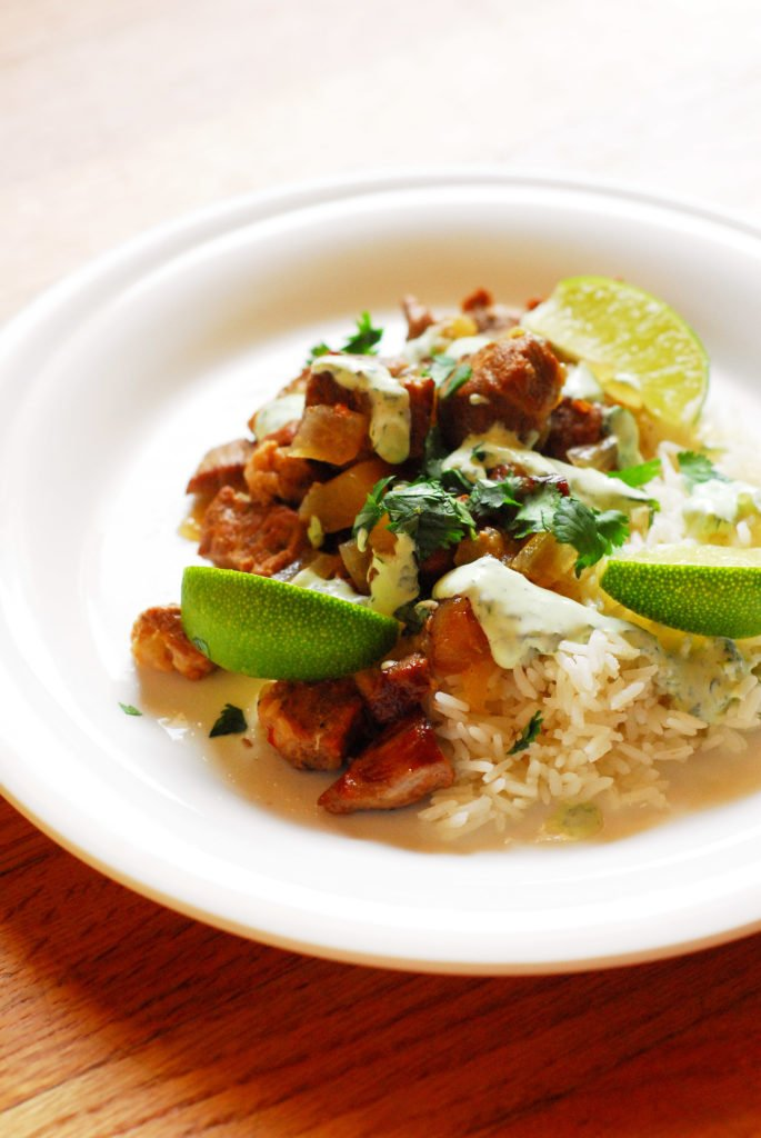 Slow Cooker Pork Stew with Apples and Lime