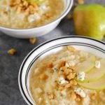 Instant Pot Pear Gorgonzola Rose Risotto from A Duck's Oven