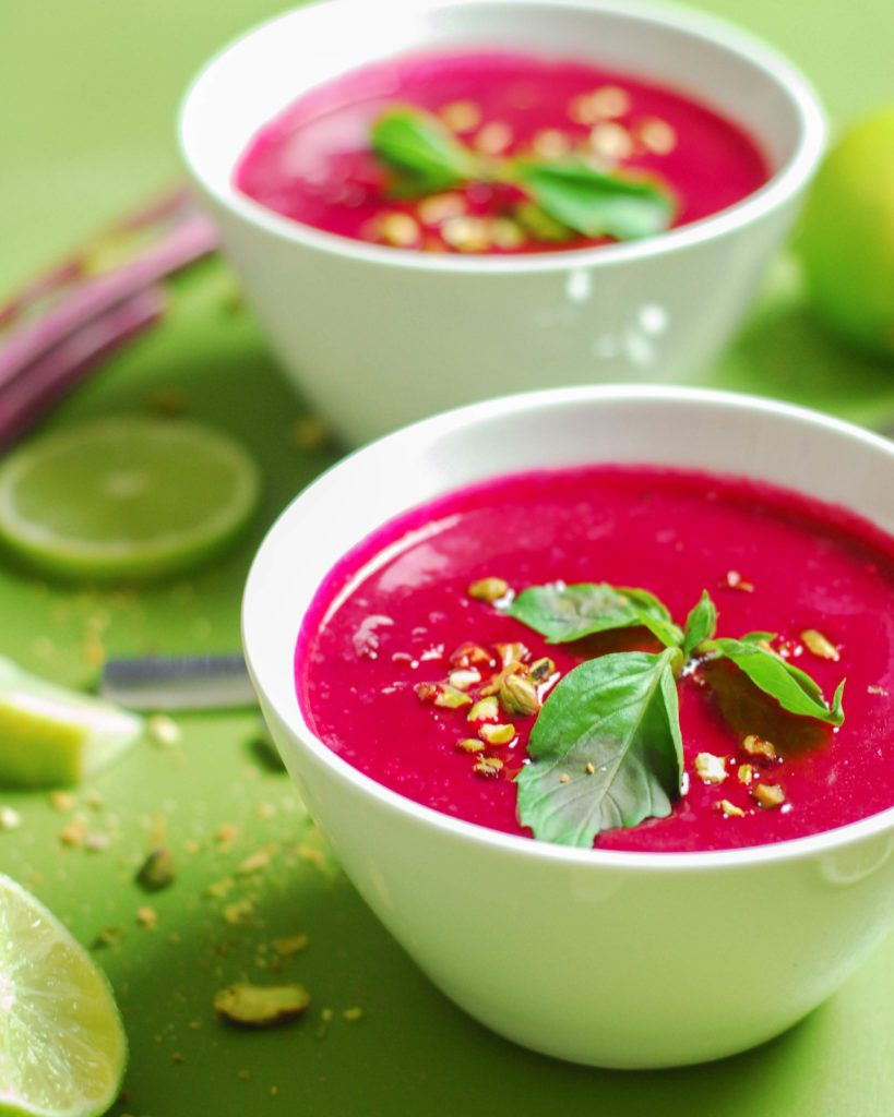 Instant Pot Thai Beet Soup from A Duck's Oven